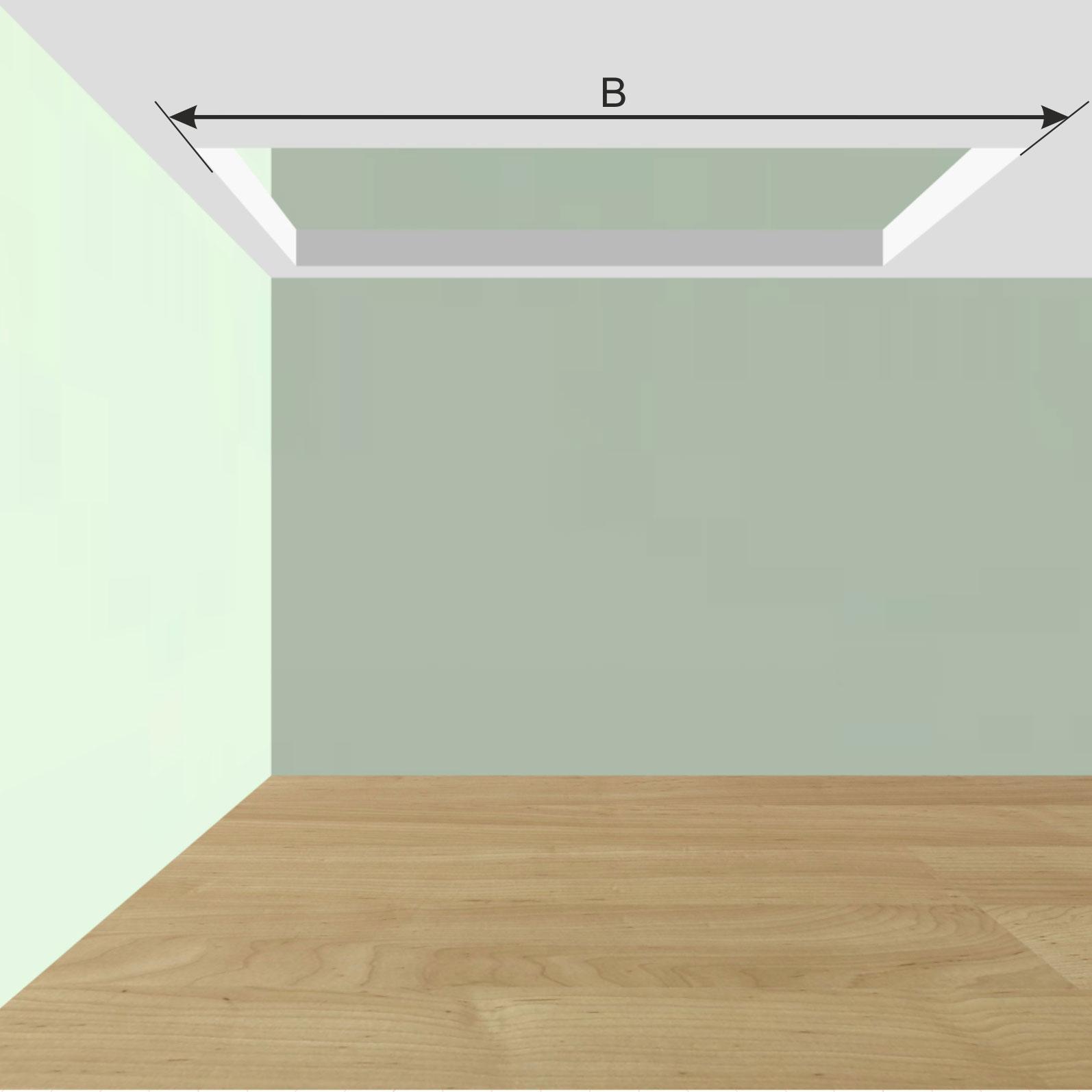 Длина проема в межэтажном перекрытии