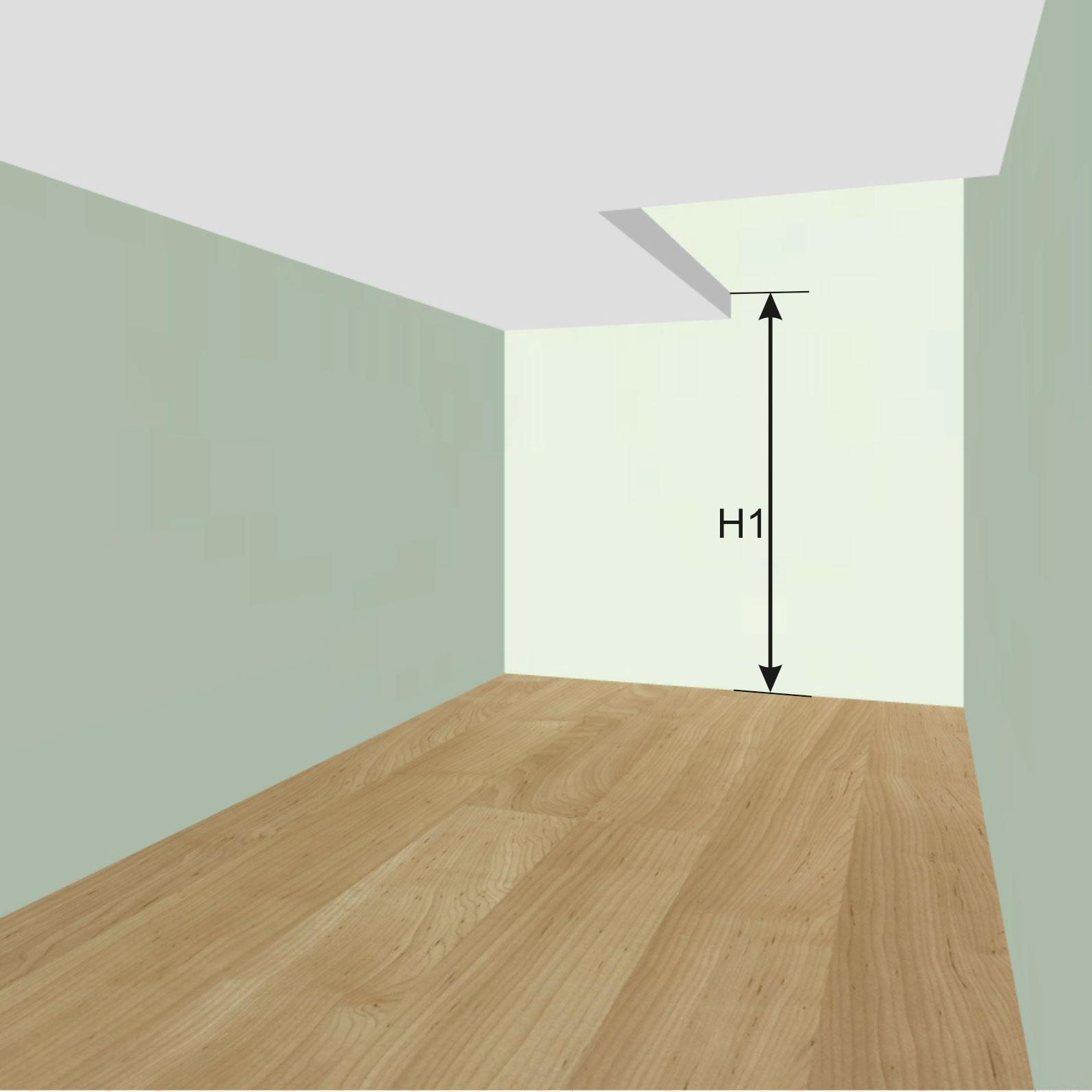 Высота от пола 1-го этажа до пола 2-го этажа